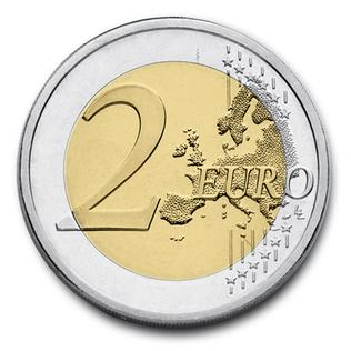 European Union coin, in use in the Eurozone since 2002