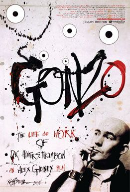 A poster for the Gonzo documentary on Hunter S. Thompson