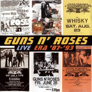 <i>Live Era 87–93</i> 1999 live album by Guns N Roses