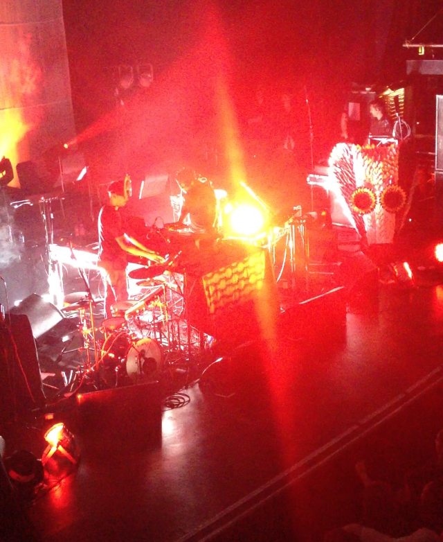 SBTRKT and Sampha performing in London as SBTRKT Live, on 5 October 2012
