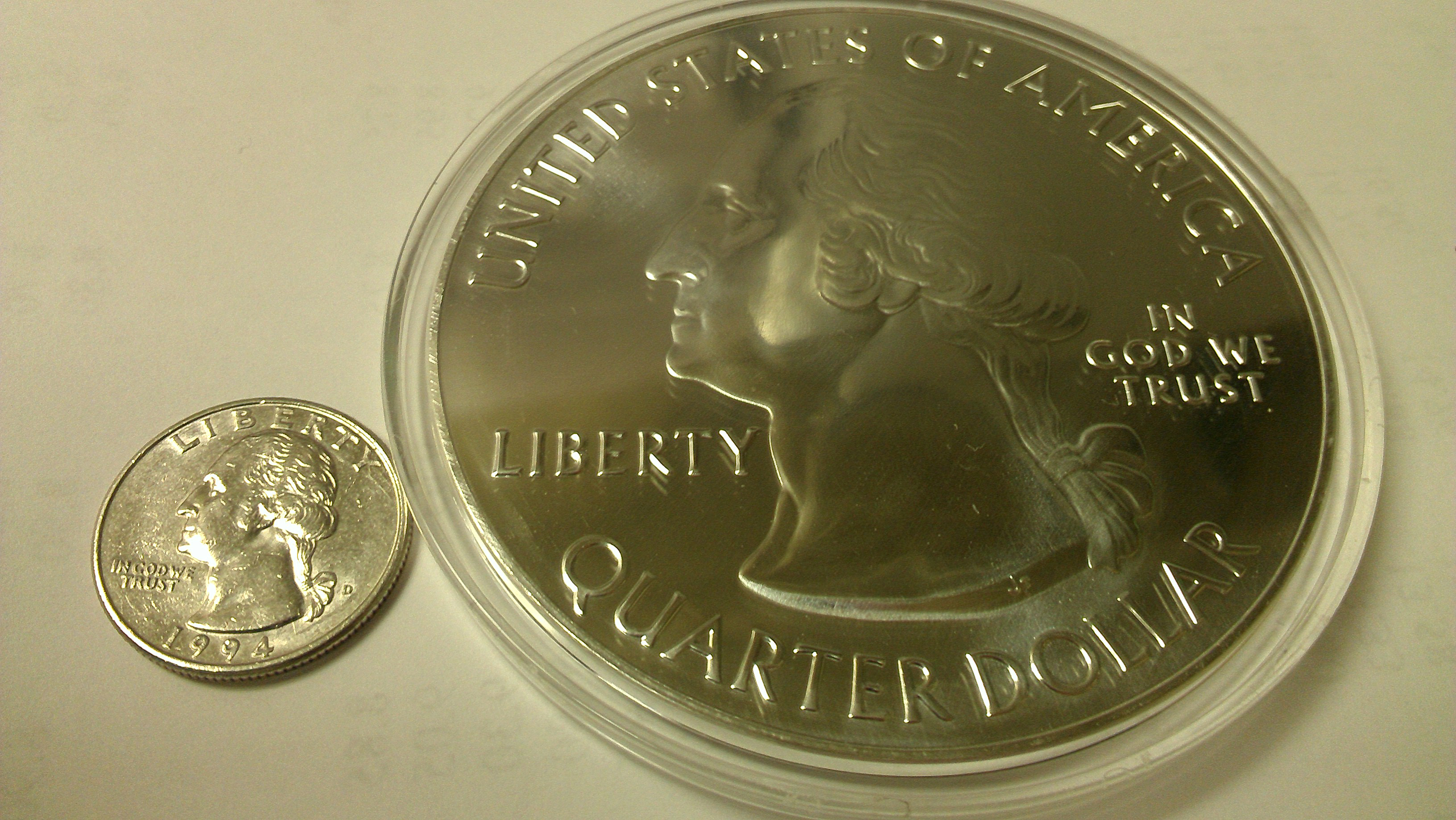 Coins That Replicate Circulation Coinage Big Small In