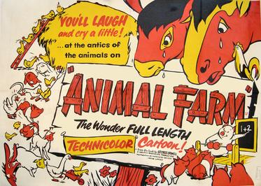 An analysis of the movie animal farm written by george orwell