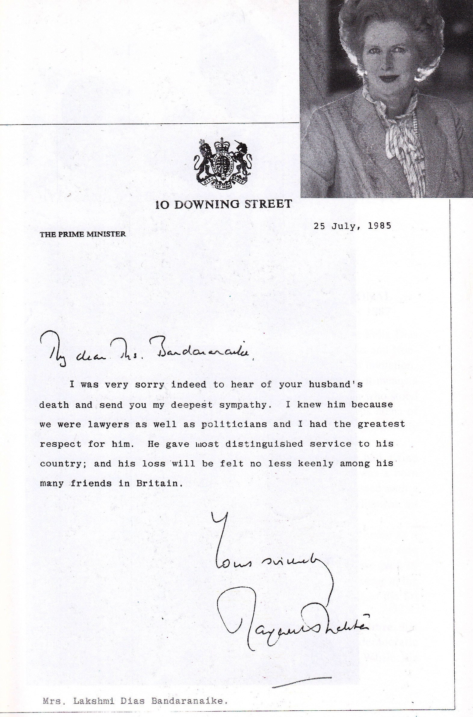 File:Condolence Message From Mrs.Margaret Thatcher  Condolence Template