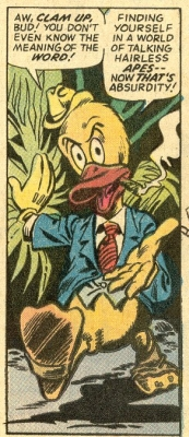Howard the Duck's first appearance, from Adven...