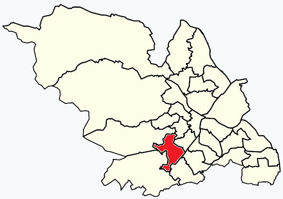 Ecclesall Sheffield, map
