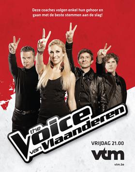 Promotional photograph of the Coaches of The Voice van Vlaanderen