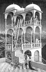 Belvedere, by M. C. Escher.jpg
