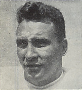 A headshot of Don Greenwood from a 1946 Cleveland Browns game program