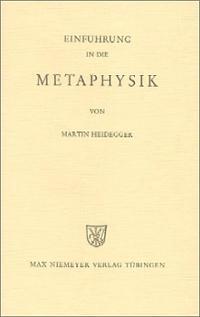 <i>Introduction to Metaphysics</i> (Heidegger book) 1953 book by Martin Heidegger