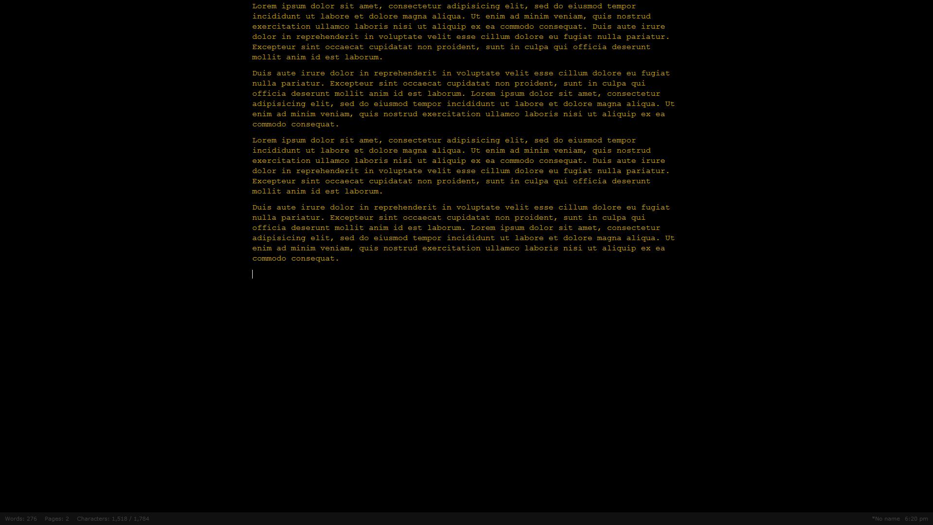 Screenshot_of_the_Q10_text_editor_containing_lorem_ipsum_text Programas para escribir concentrado