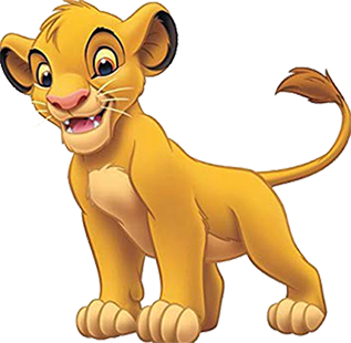 Simba Character from The Lion King franchise