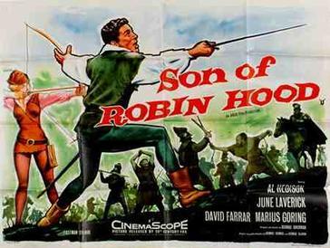 robin hood and little john running through the forest