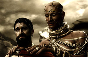 Image:300- Leonidas and Xerxes discuss surrender.jpg