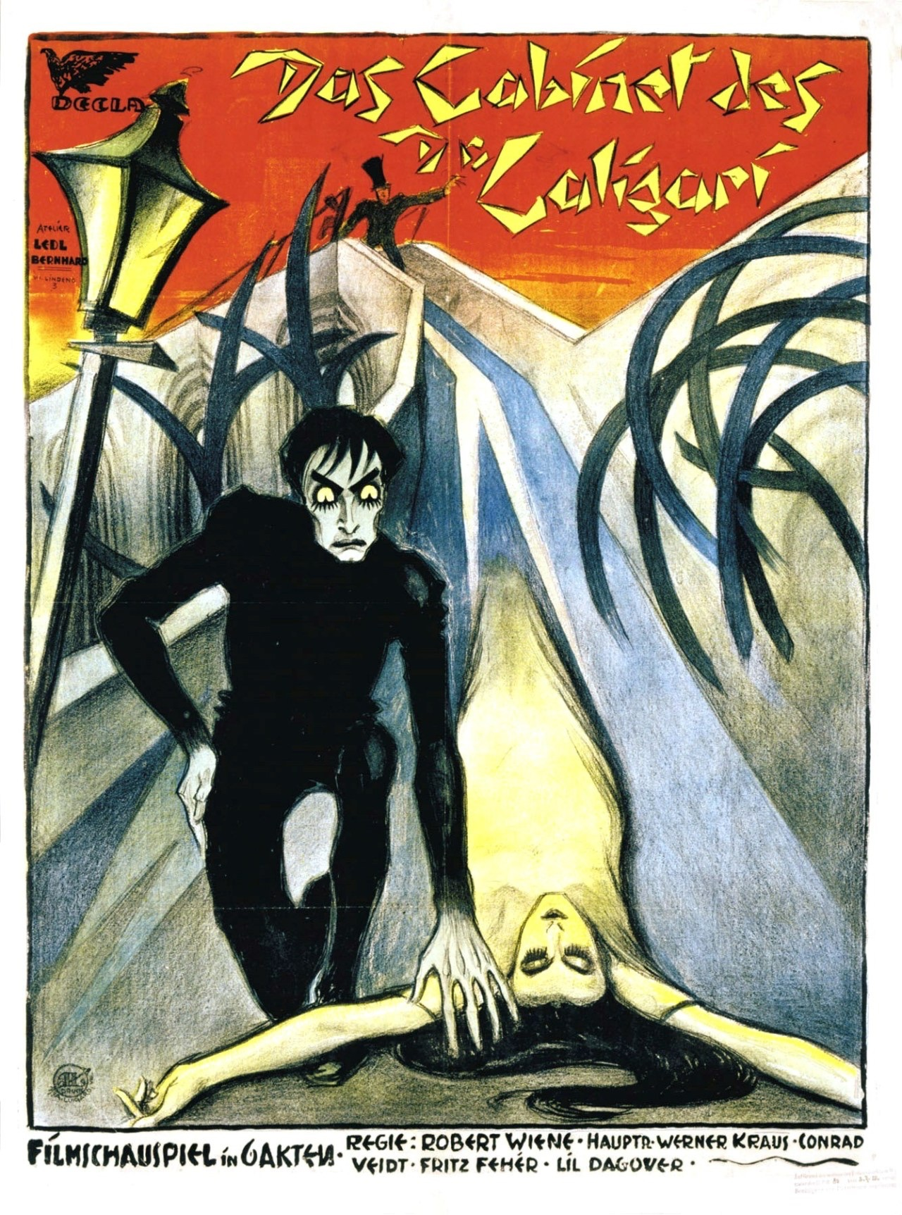 Image result for the cabinet of dr. caligari movie poster