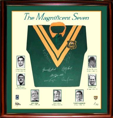 The Immortals, prior to the induction of Johns in 2012. The Immortals (rugby league) display panel.jpg