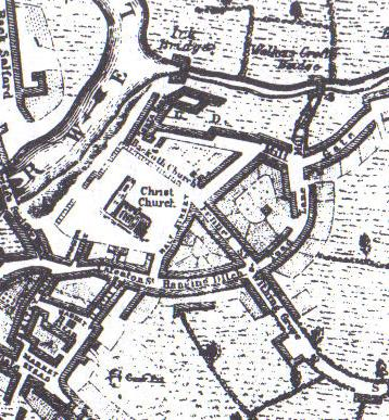 An image of Manchester city centre in 1650