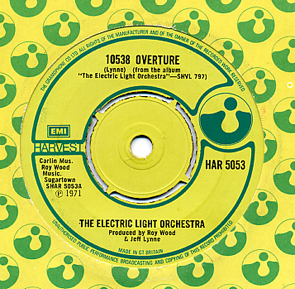 Cover image of song 10538 Overture by Electric Light Orchestra