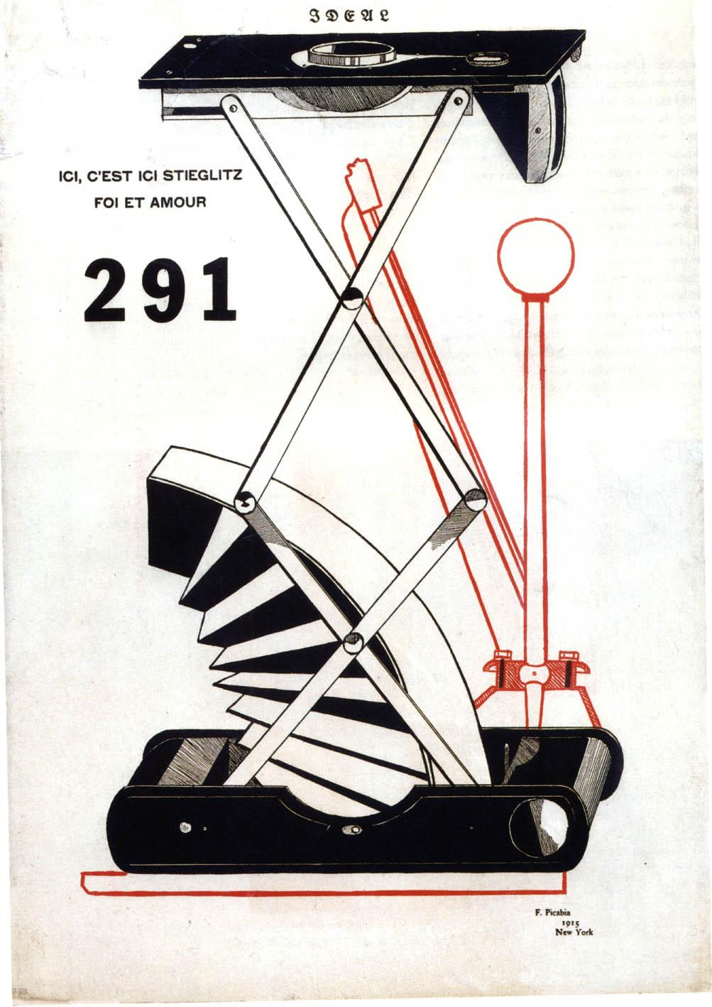 Francis Picabia, Ici, c'est ici Stieglitz, foi et amour, cover of 291, No.  1, 1915