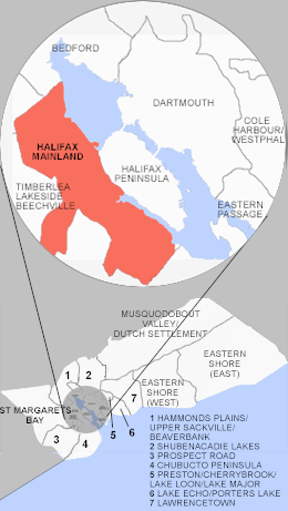 Location of Mainland Halifax