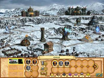 a snowy necropolis town