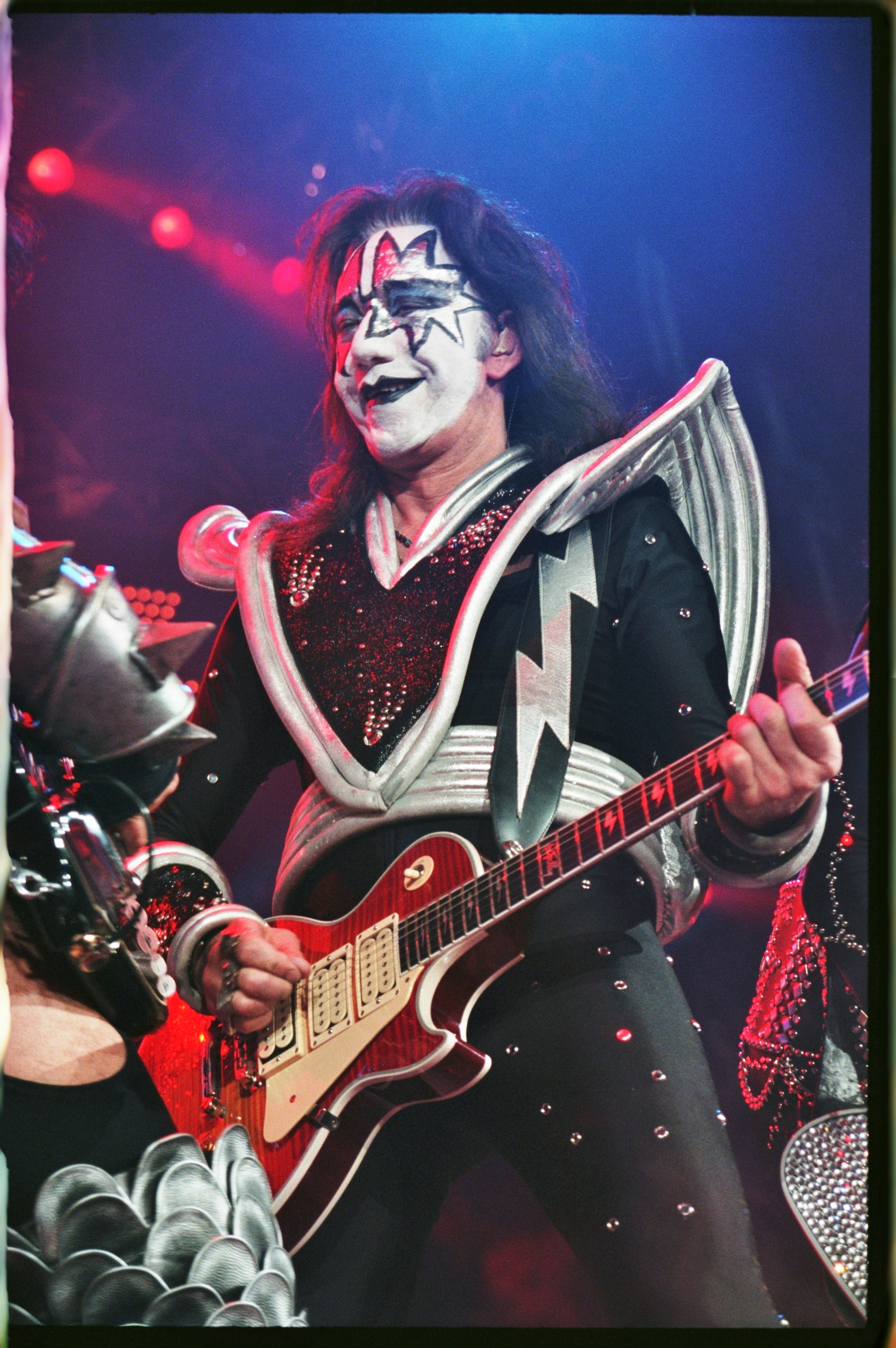 KISS lead guitarist Ace Frehley performing with KISS during their Farewell Tour in Bakersfield, CA.jpg