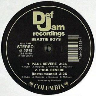 Paul Revere (song) 1986 single by Beastie Boys