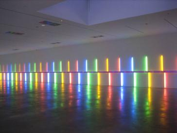 Site-specific installation by Dan Flavin, 1996, Menil Collection Site-specific installation by Dan Flavin, 1996, Menil Collection, Houston Texas.JPG