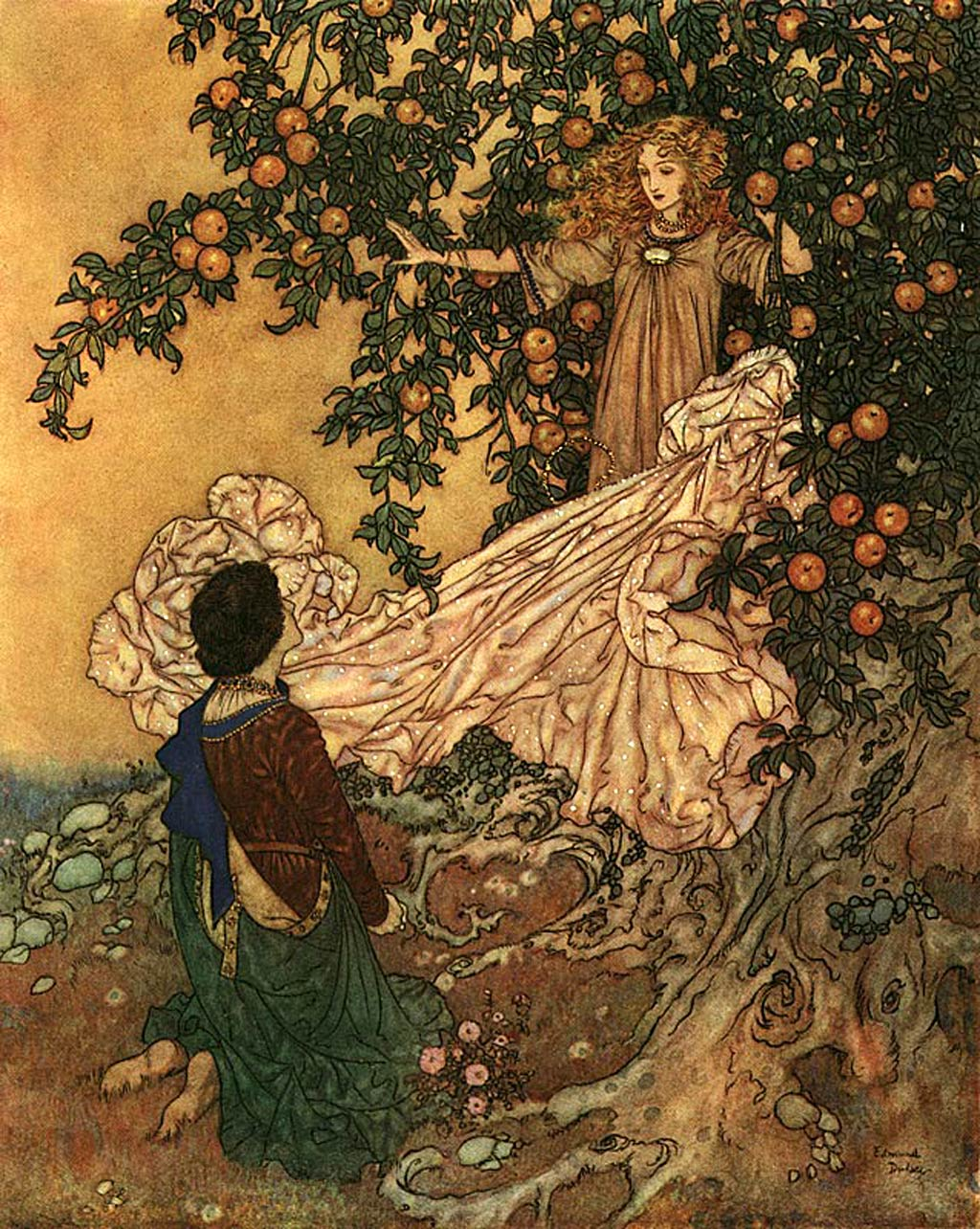 File:Edmund Dulac - The Garden of Paradise - Fairy of the Garden ...