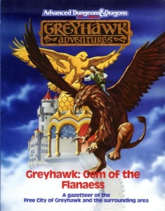 Book cover, Greyhawk: Gem of the Flanaess by M...