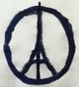 Original artwork for the Peace for Paris symbol, by Jean Julien, from https://upload.wikimedia.org/wikipedia/en/3/32/Peace_for_Paris_fairuse_99px.jpg
