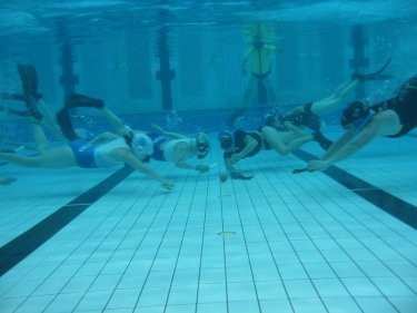 going for strike - Olympic Swimming Pool Underwater