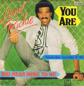 You Are (Lionel Richie song) 1983 single by Lionel Richie