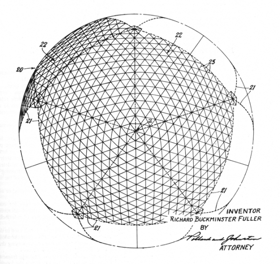 File:Geodesic dome patent fuller 1954.png - Wikipedia