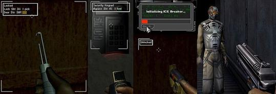 Players are given multiple ways to traverse obstacles, from lockpicking to armed combat. How to pass obstacles in Deus Ex.jpg