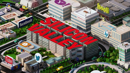 当然啦,hooli是虚拟的,twitter是在旧金山的downtown,我好像没有看到Apple……