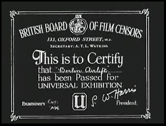 British Board of Film Censors 'U' certificate for Berlin Airlift (1949)[6]