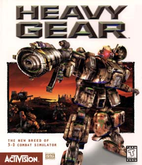 Box cover of the first Heavy Gear computer game