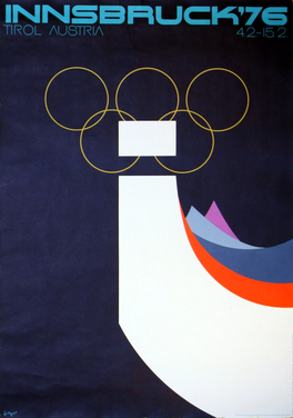 The official poster of the 1976 Winter Olympics