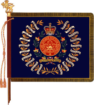The regimental colour of The Lake Superior Scottish Regiment.