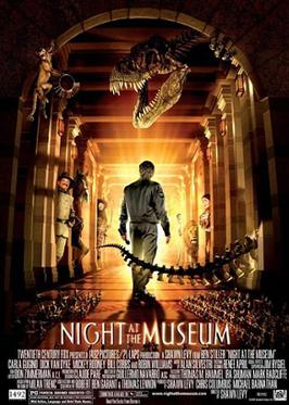 Night at the Museum (2006) [English] SL DM - Ben Stiller, Carla Gugino, Dick Van Dyke, Mickey Rooney, Bill Cobbs, Jake Cherry, Ricky Gervais, Owen Wilson, Steve Coogan, and Robin Williams