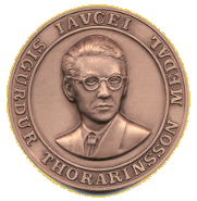 Thorarinsson Medal ThorarinssonMedal.png
