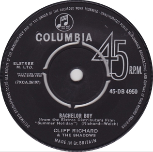 Bachelor Boy 1962 single by Cliff Richard and the Shadows