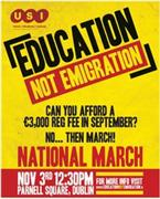 Education Not Emigration National March 3 November 2010 Poster.jpg