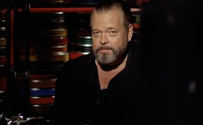 Orson Welles in F for Fake (1974), a film essay and the last film he completed. F-for-Fake.jpg
