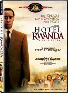 DVD box cover for Hotel Rwanda