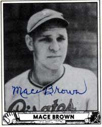 Mace Brown American baseball player and coach