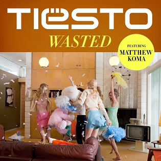 Wasted Tiesto featuring Matthew Koma EP single cover