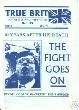 'True Brit' newspaper cover, 1997