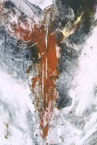 'Angel III', --Monotyping-monotype-- on paper by --Stephen De Staebler--, 1995