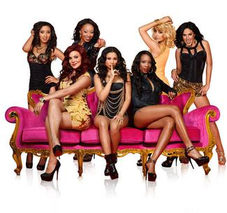 "Bad Girls Club Logo The original seven ""bad"" girls"